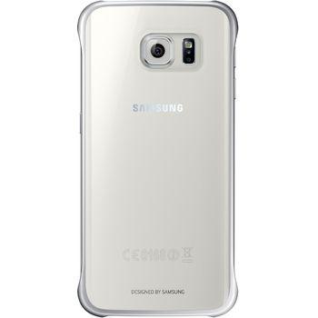 Samsung ochranný zadní kryt EF-QG925BS pro Galaxy S6 Edge, stříbrná