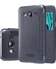 Nillkin flipové pouzdro Sparkle S-View pro Samsung Galaxy J3 (2016), černé
