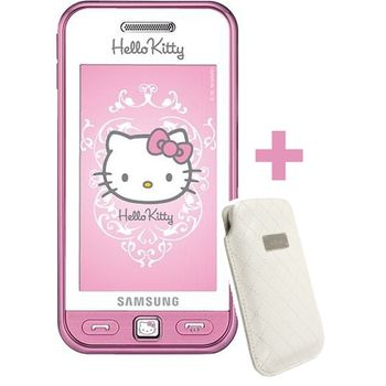 Samsung S5230 Star Hello Kitty + Krusell pouzdro Coco Pouch (bílá)