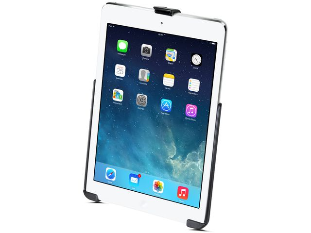 obsah balení RAM Mounts držák na iPad Air do auta na palubní desku, skútr, atd. na šroubky nebo vruty, AMPS, sestava RAM-B-138-AP17U
