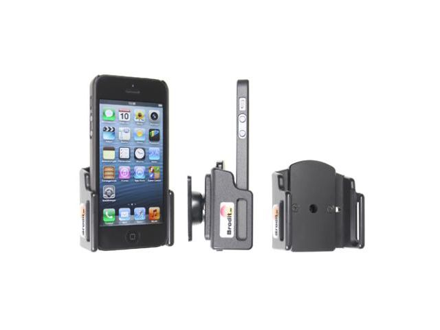 obsah balení Brodit držák do auta pro Apple iPhone 5 s tenkým pouzdrem + adaptér pro snadné odebrání držáku z proclipu