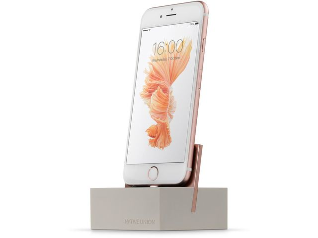 obsah balení Native Union Silicon dokovací stanice s Lightning pro Apple iPhone, krémová + Apple originální USB kabel s konektorem Lightning 1m