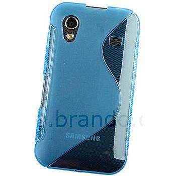 Pouzdro plastové Brando s vlnitým vzorem - Samsung S5830 Galaxy Ace (modrá)
