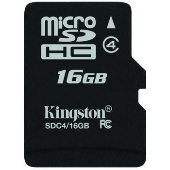 Kingston microSDHC 16GB Class 4 paměťová karta + SDHC adaptér