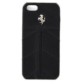 Ferrari California kožený zadní kryt iPhone 5, černý