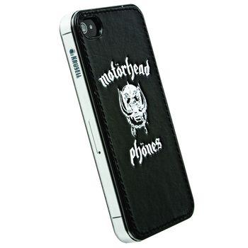 Sluchátka Motörheadphönes Overkill s mikrofonem černá + Metropolis UnderCover Apple iPhone 4/4S (černá/bílá)