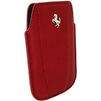 Ferrari Modena kožené pouzdro pro iPhone, červené