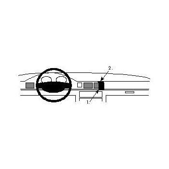 Brodit ProClip montážní konzole pro Honda Civic 92-95 For all countries, na střed