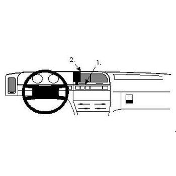 Brodit ProClip montážní konzole pro Citroen Xantia 93-97, na střed vlevo