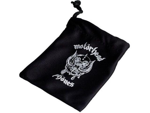 obsah balení Sluchátka Motörheadphönes Trigger černá + Pouzdro Burner L (černá/bílá)