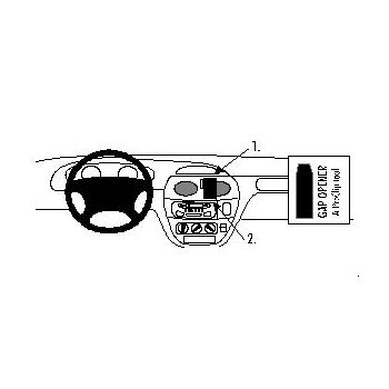 Brodit ProClip montážní konzole pro Renault Mégane 96-02, Scénic 96-99, na střed
