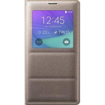 Samsung flipové pouzdro S-View EF-CN910BE pro Galaxy Note 4 (N910), zlaté