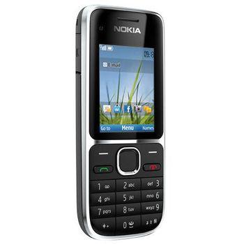 Nokia C2-01 Black + záložní zdroj a nabíječka Belkin Battery Pack 1000mAh (vč.micro USB kabelu) F8M158cw