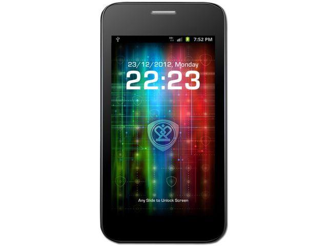 obsah balení Prestigio MultiPhone 3500 DUO + SanDisk značková paměťová karta 16GB