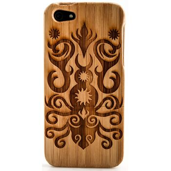 Thorn bambusové pouzdro Maori tattoo pro iPhone 5