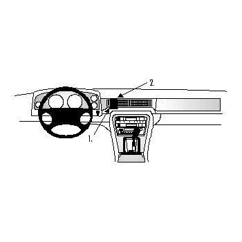Brodit ProClip montážní konzole pro Daimler 4.0 87-98 pro Evropu/Jaguar XJ6 87-98, na střed