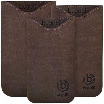 Bugatti Skinny Universal leather case XL - tmavě hnědé