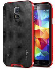 Spigen pevné pouzdro Neo Hybrid Dante red pro Samsung Galaxy S5, červená