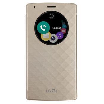 LG flipové pouzdro QuickCircle CFV-100 pro LG G4, zlatý