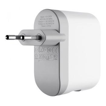 Belkin dual USB cestovní nabíječka, 5V/2x2.1A, bílá