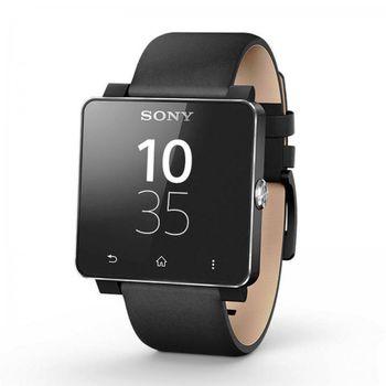 Sony náhradní kožený řemínek pro SmartWatch SW2, černá