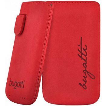 Bugatti Perfect Velvety leather case pro iPhone 4/4S - červené