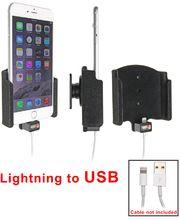 Brodit držák do auta na Apple iPhone 6 Plus bez pouzdra, s průchodkou pro Lightning kabel, samet