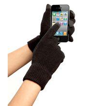 Zimní kapacitní rukavice pro Samsung, iPhone, iPad, Sony, HTC - černá