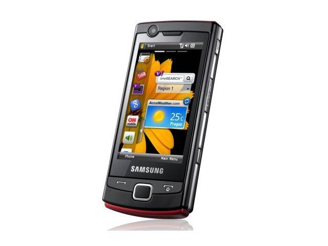 obsah balení Samsung B7300 Omnia Lite + 8GB karta
